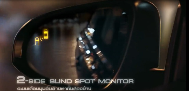 Màn hình phát hiện điểm mù 2 bên thân xe