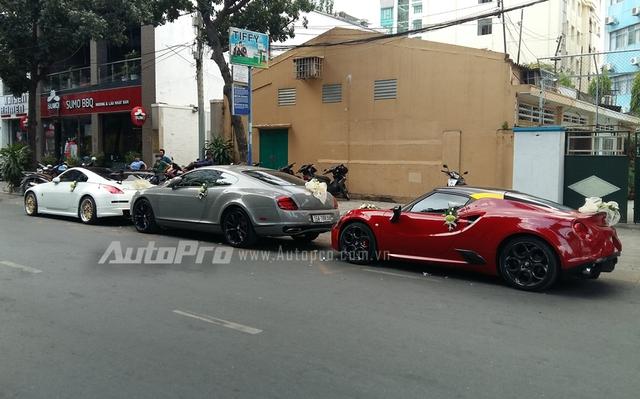 Bộ 3 từ trên xuống Nissan 350Z, Bentley Continental GT và Alfa Romeo 4C Launch Edition.