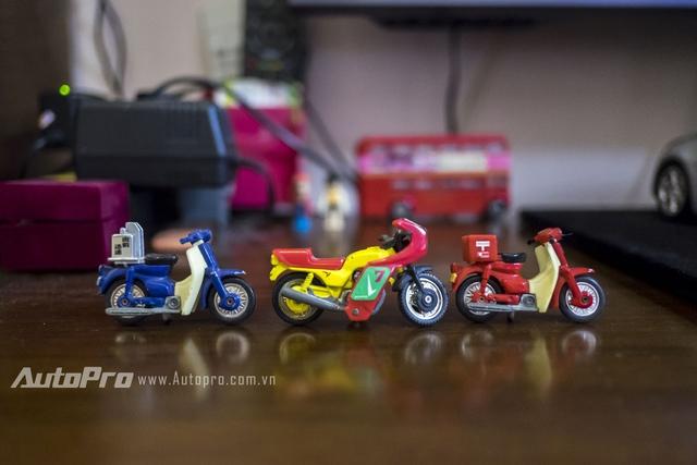 3 mẫu xe máy Tomica đã từng được một người chơi mô hình tĩnh khác trả tới 1 triệu/mẫu nhưng Huy không ba