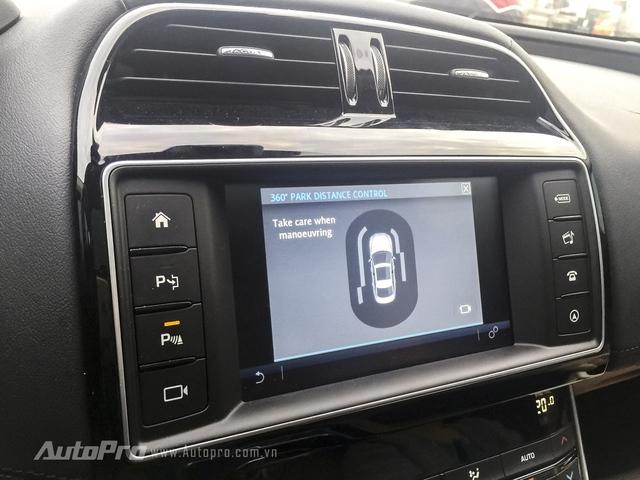 Vòng cảnh báo 360 độ quanh XE dựa vào các cảm biến trên thân xe.
