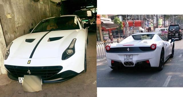 Bộ đôi siêu xe mui trần Ferrari California T và 458 Spider vừa được đổi sang màu sơn trắng.