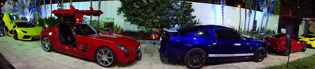 Buổi tụ tập cuối tuần vừa qua của các đại gia Sài thành tại Quận 2 quy tụ nhiều siêu xe và xe thể thao hàng độc tham dự như Lamborghini Aventador, Ferrari 458 Italia, Mercedes SLS AMG hay Audi R8 được độ lại khá hầm hố.