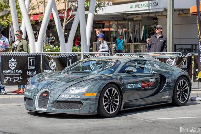 Một chiếc Bugatti Veyron được khoác bộ áo lạ mắt.