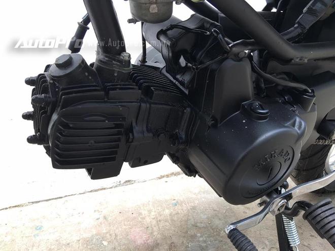 Honda Win 100 sử dụng động cơ xi-lanh đơn, 4 thì, dung tích 100 phân khối, làm mát bằng gió, sản sinh công suất tối đa 10,8 mã lực tại vòng tua máy 8.000 vòng/phút. Hộp số 4 cấp với côn tay có cơ cấu chuyển số: 1-0-2-3-4. Chiếc Honda Win độ này được nhập khẩu từ thị trường Trung Quốc nên được tích hợp thêm bộ đề.
