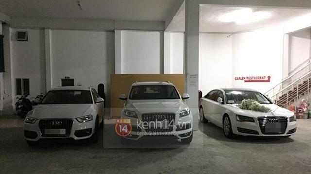 Dàn xe đón dâu toàn Audi trong đám cưới Công Vinh – Thủy Tiên
