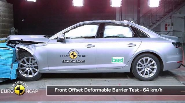Xế sang Audi A4 nhận điểm an toàn tối đa của Euro NCAP