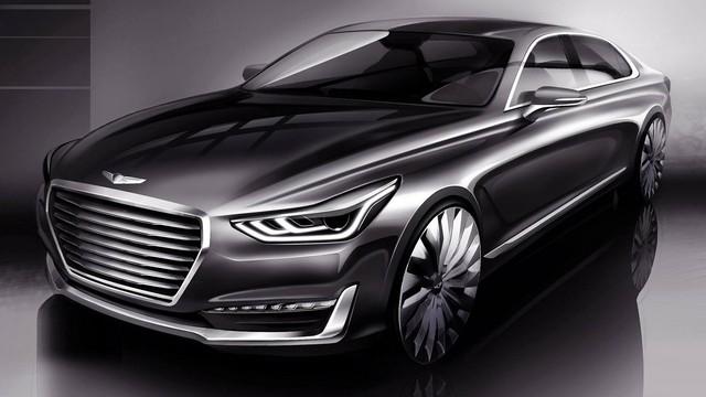 Xe sang cỡ lớn Hyundai Genesis G90 trình làng, thay chân Equus