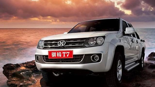 """Jiangling T7 – Xe bán tải """"nhái"""" kiểu dáng, dùng máy Isuzu"""