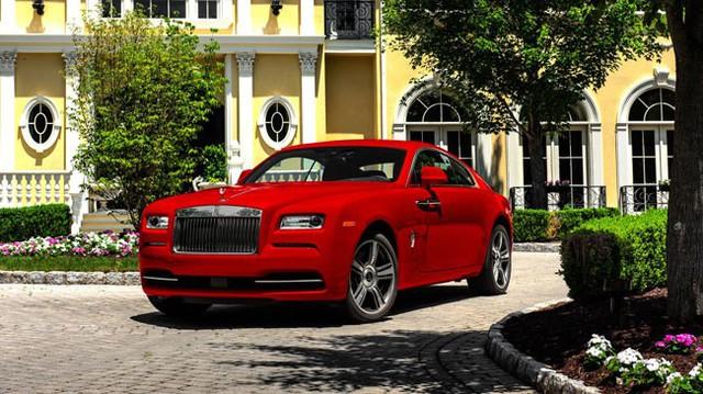 Xe sang tiền tỷ Rolls-Royce Wraith có phiên bản mới màu đỏ rực