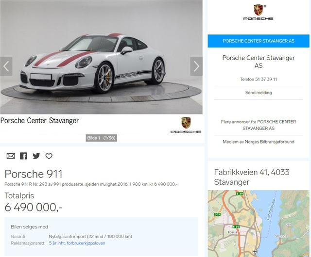 Xe thể thao Porsche 911 R bị làm giá ở nhiều nơi trên thế giới - Ảnh 2.