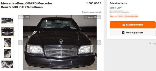 Mercedes-Benz chống đạn cũ của Tổng thống Nga được rao bán với giá chát - Ảnh 1.