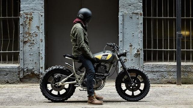 Yamaha SR500 độ theo phong cách trần trụi và sexy