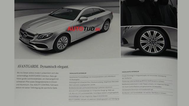 Mercedes E-Class Coupe 2018 phiên bản Avantgarde