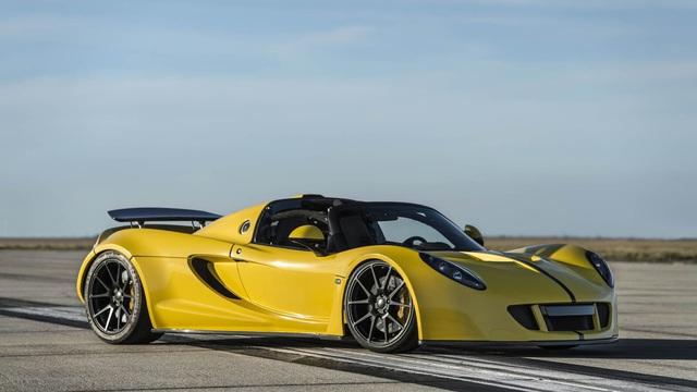 Hennessey Venom GT Spyder trở thành siêu xe mui trần nhanh nhất thế giới