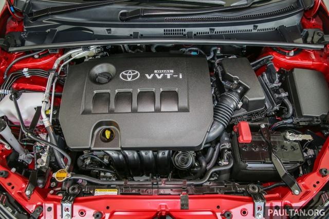 Hai con số tương ứng của động cơ xăng 2.0 lít là 145 mã lực tại vòng tua máy 6.200 vòng/phút và 187 Nm tại vòng tua máy 3.600 vòng/phút. Cả hai động cơ đều kết hợp với hộp số CVT với 7 cấp số ảo và có thêm chế độ Sport mới.