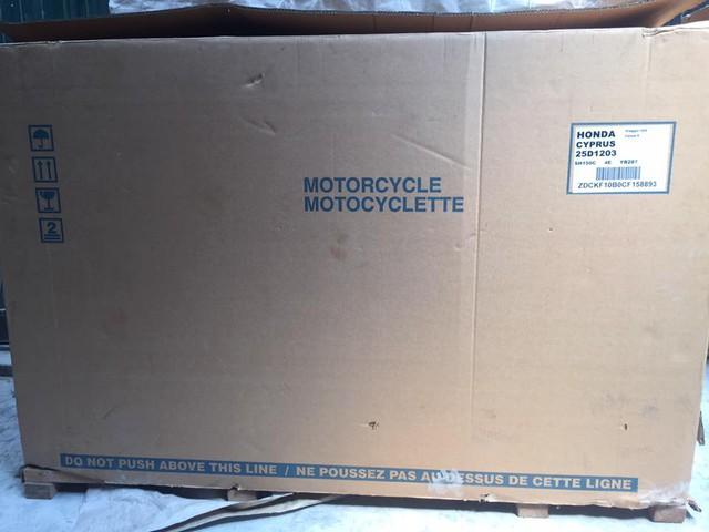 Chiếc Honda SH150i nhập khẩu được cho là còn nguyên thùng, nguyên seal nhưng đã đăng ký.