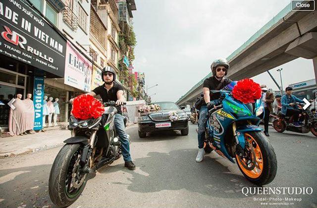Đám cưới tiền tỉ tại Hưng Yên với xe Limousine đón dâu và phân khối lớn dẫn đường - Ảnh 2.