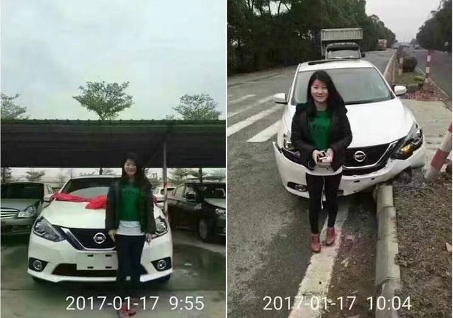 Nissan Sylphy 2016 bị tai nạn sau 10 phút rời đại lý gây xôn xao - Ảnh 1.