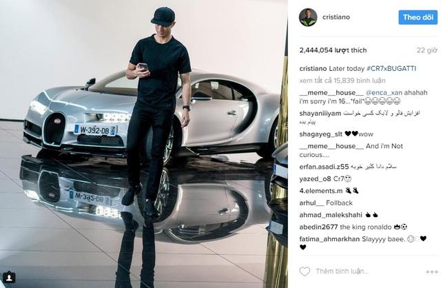 Xem Cristiano Ronaldo cầm lái siêu phẩm triệu đô Bugatti Chiron - Ảnh 5.