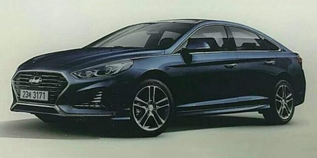 Sedan cỡ trung Hyundai Sonata 2018 lần đầu tiên hiện nguyên hình - Ảnh 1.