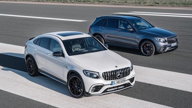 Cặp đôi SUV hiệu suất cao Mercedes-AMG GLC63 và GLC63 Coupe 2018 hiện nguyên hình - Ảnh 1.