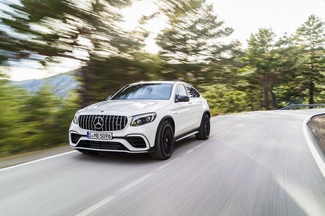 Cặp đôi SUV hiệu suất cao Mercedes-AMG GLC63 và GLC63 Coupe 2018 hiện nguyên hình - Ảnh 4.