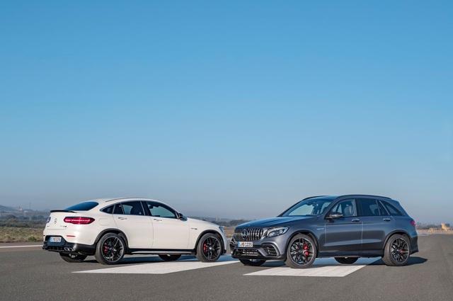 Cặp đôi SUV hiệu suất cao Mercedes-AMG GLC63 và GLC63 Coupe 2018 hiện nguyên hình - Ảnh 5.
