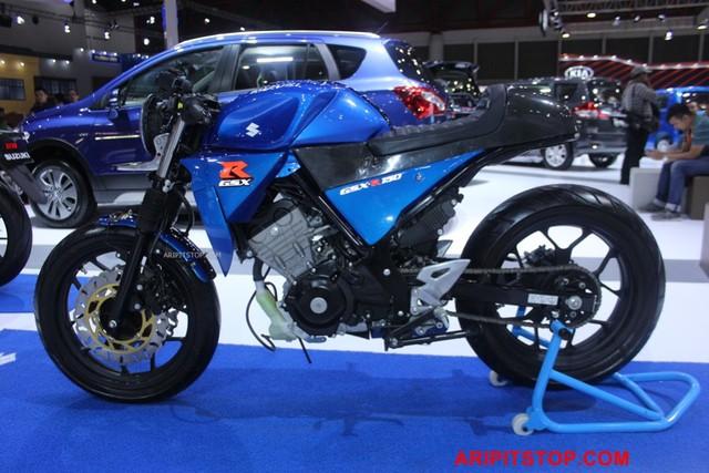 Chiêm ngưỡng phiên bản Café Racer của Suzuki GSX-R150 sắp ra mắt Việt Nam - Ảnh 1.