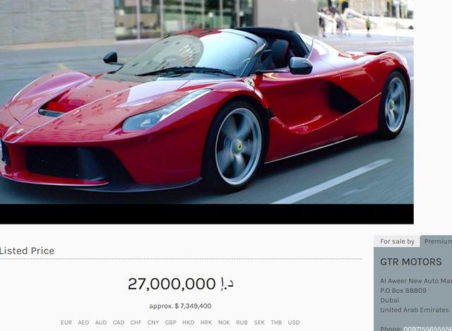 Triệu phú dầu lửa cũng phải khóc thét với giá của chiếc siêu xe Ferrari LaFerrari Aperta này - Ảnh 1.
