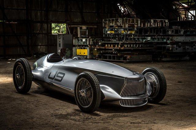 Infiniti Prototype 9 - Ô tô đời mới nhưng giống hệt xế cổ - Ảnh 2.