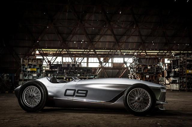 Infiniti Prototype 9 - Ô tô đời mới nhưng giống hệt xế cổ - Ảnh 4.