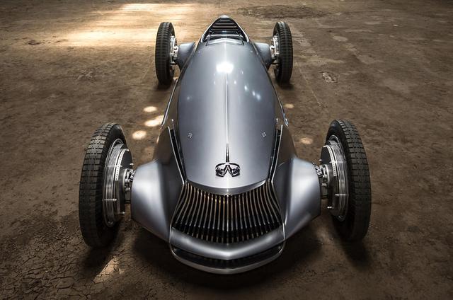 Infiniti Prototype 9 - Ô tô đời mới nhưng giống hệt xế cổ - Ảnh 7.