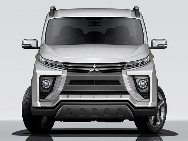 Đây có thể là diện mạo của xe MPV Mitsubishi Delica 2017 sắp ra mắt - Ảnh 1.
