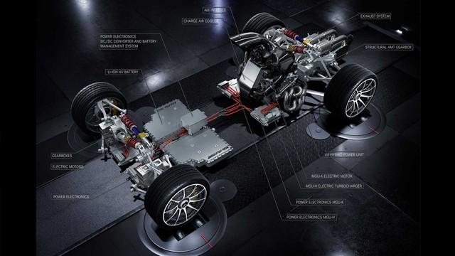 Hình ảnh nhìn từ phía sau của siêu xe Mercedes-AMG Project One gây sốt - Ảnh 2.