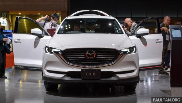 Mục sở thị vẻ đẹp ngoài đời thực của crossover 3 hàng ghế Mazda CX-8 mới - Ảnh 1.