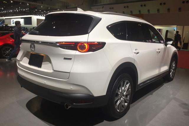 Mục sở thị vẻ đẹp ngoài đời thực của crossover 3 hàng ghế Mazda CX-8 mới - Ảnh 5.