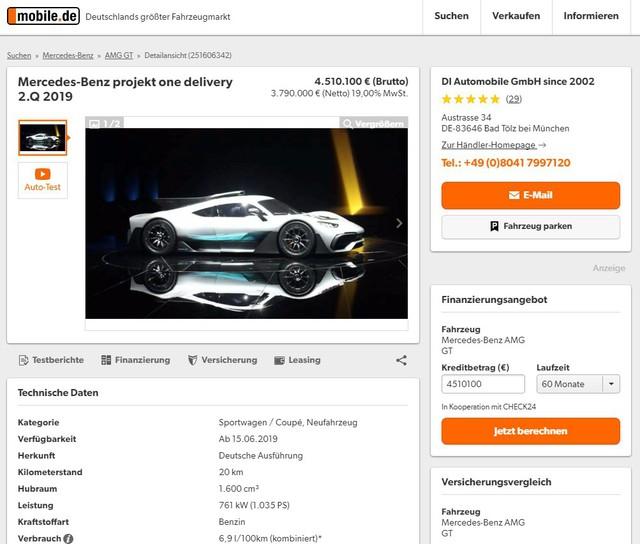 Chưa được phát triển xong, cực phẩm Mercedes-AMG Project One đã đội giá trên thị trường - Ảnh 2.