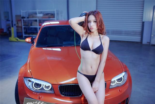 Cô nàng da sáng, dáng xinh bên BMW M-series - Ảnh 2.
