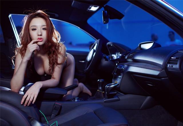 Cô nàng da sáng, dáng xinh bên BMW M-series - Ảnh 9.