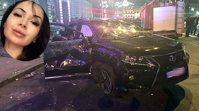 Khoảnh khắc con gái triệu phú Ukraine lái Lexus gây tai nạn liên hoàn khiến 11 người thương vong