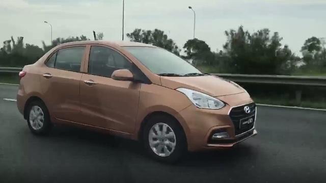 Video bắt gặp Hyundai Grand i10 Sedan 2017 trên đại lộ Thăng Long
