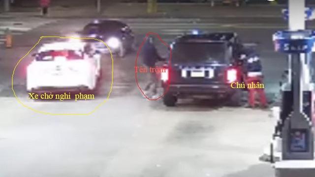 Cảnh sát truy lùng kẻ trộm táo tợn đánh cắp xe Range Rover tại cây xăng
