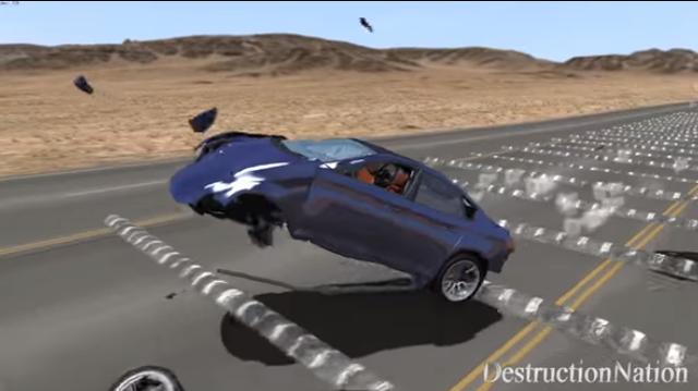 Chuyện gì xảy ra khi lái xe ở tốc độ trên 160 km/h qua 100 gờ giảm tốc