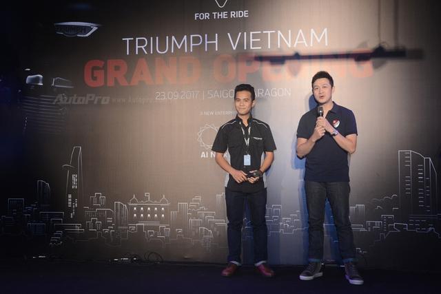 Vừa vào Việt Nam, Triumph chọn ngay fan cuồng MC Anh Tuấn làm đại sứ thương hiệu - Ảnh 1.