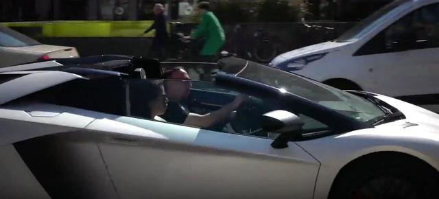 Xem sao bóng đá Franck Ribéry lái Lamborghini Aventador SV Roadster mới tậu - Ảnh 2.
