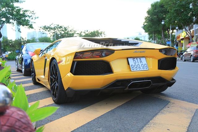 Lamborghini Aventador biển tứ quý 9 được đưa đi làm đẹp - Ảnh 7.