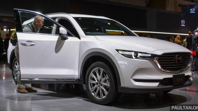 """""""Mục sở thị"""" vẻ đẹp ngoài đời thực của crossover 3 hàng ghế Mazda CX-8 mới"""
