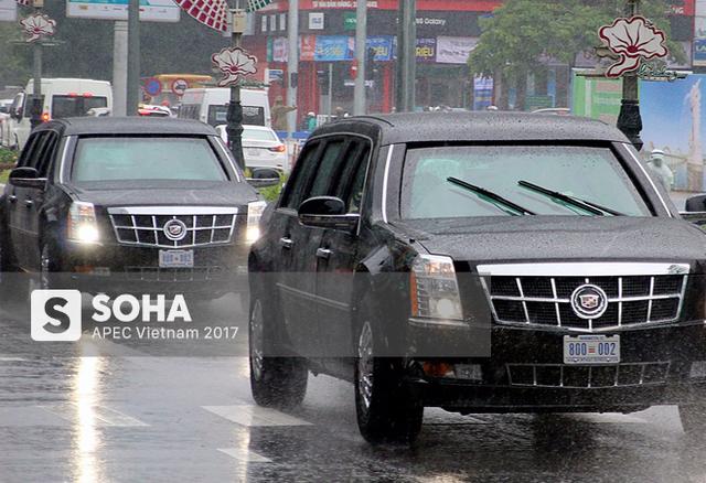 [NÓNG] Dàn xe của tổng thống Trump hộ tống siêu xe Cadillac One The Beast xuất hiện trên phố Đà Nẵng - Ảnh 3.