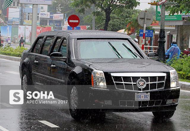 [NÓNG] Dàn xe của tổng thống Trump hộ tống siêu xe Cadillac One The Beast xuất hiện trên phố Đà Nẵng - Ảnh 4.