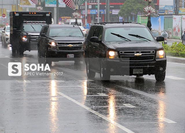 [NÓNG] Dàn xe của tổng thống Trump hộ tống siêu xe Cadillac One The Beast xuất hiện trên phố Đà Nẵng - Ảnh 5.